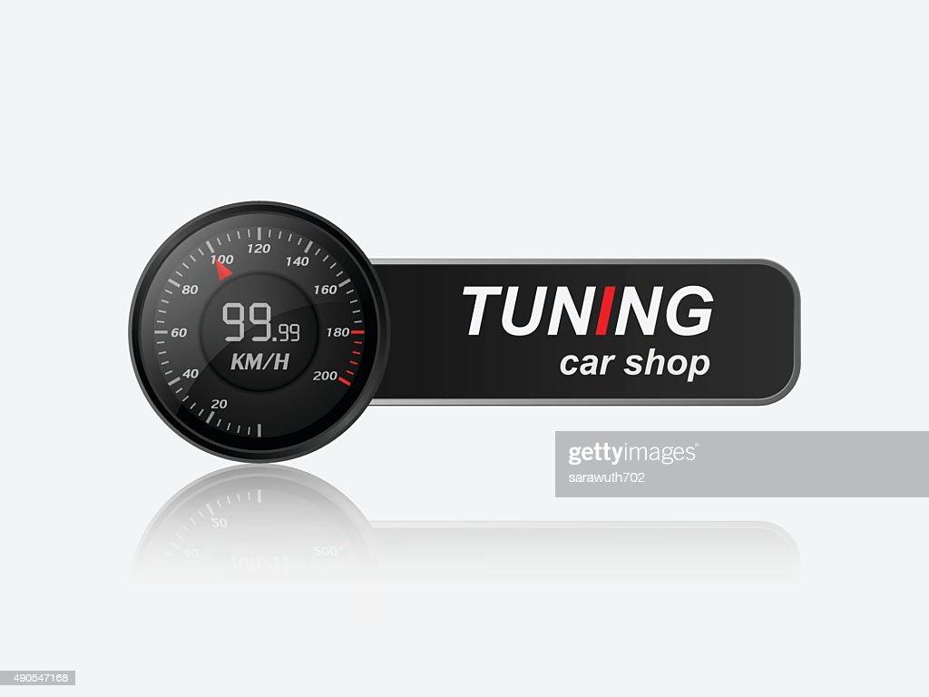 Tuning car shop logo,vector