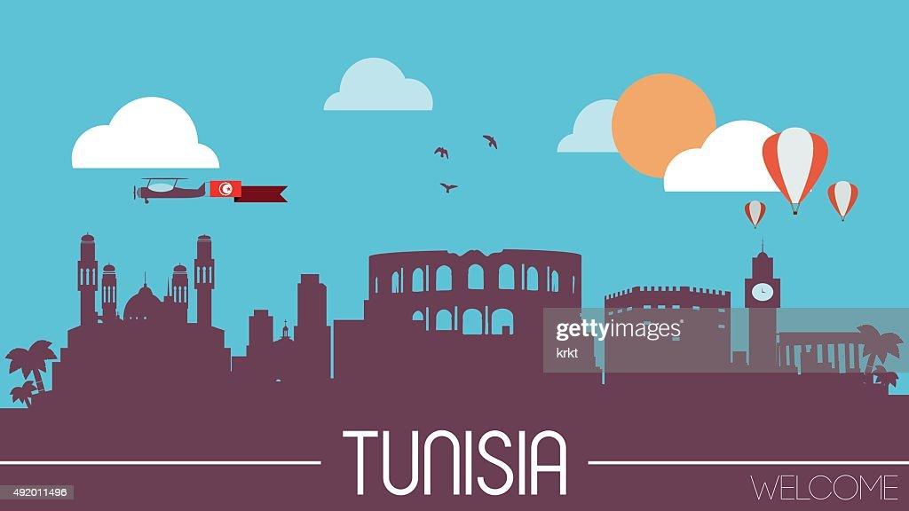 Tunisia skyline silhouette