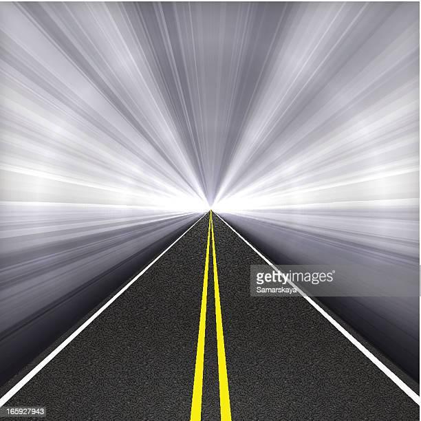 ilustraciones, imágenes clip art, dibujos animados e iconos de stock de túnel de carretera - largo longitud