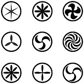 turbine icon set