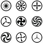 turbine icon set