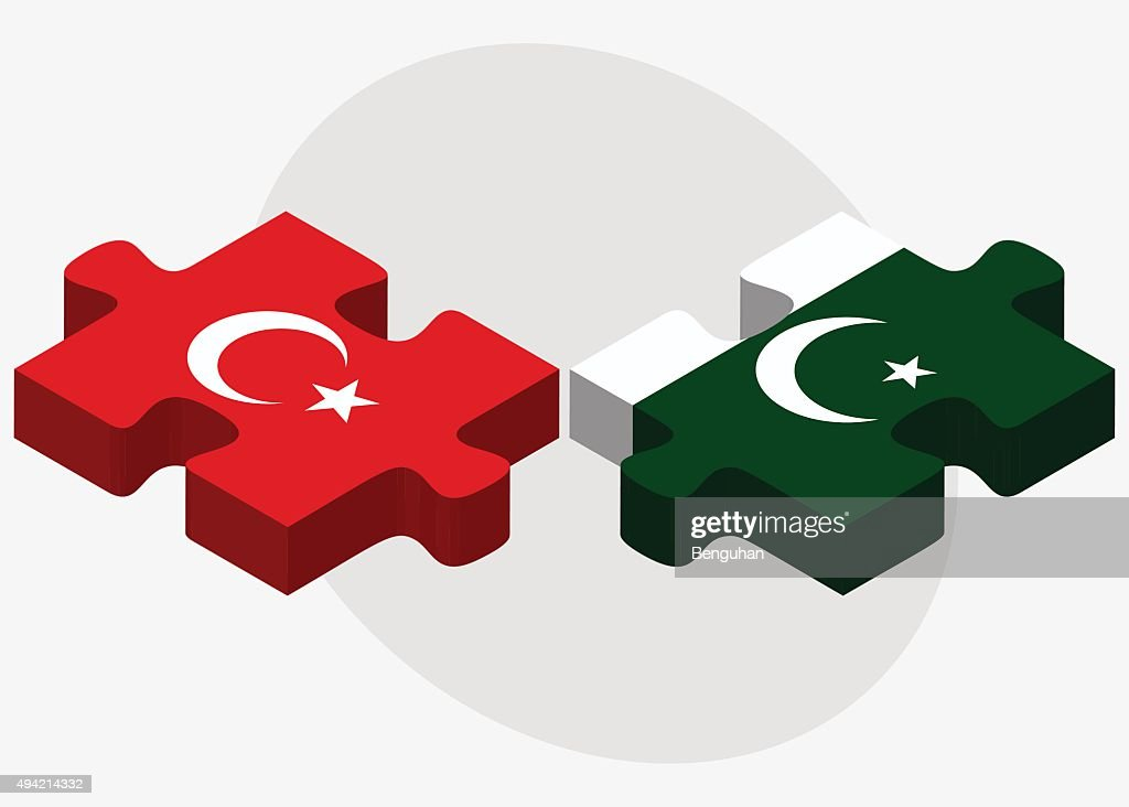 Turkey and Pakistan Flags