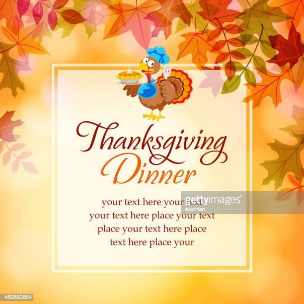 Turkey and pumpkins pie notice