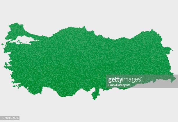 Türkei-Land-Map-grünen Sechseck-Muster