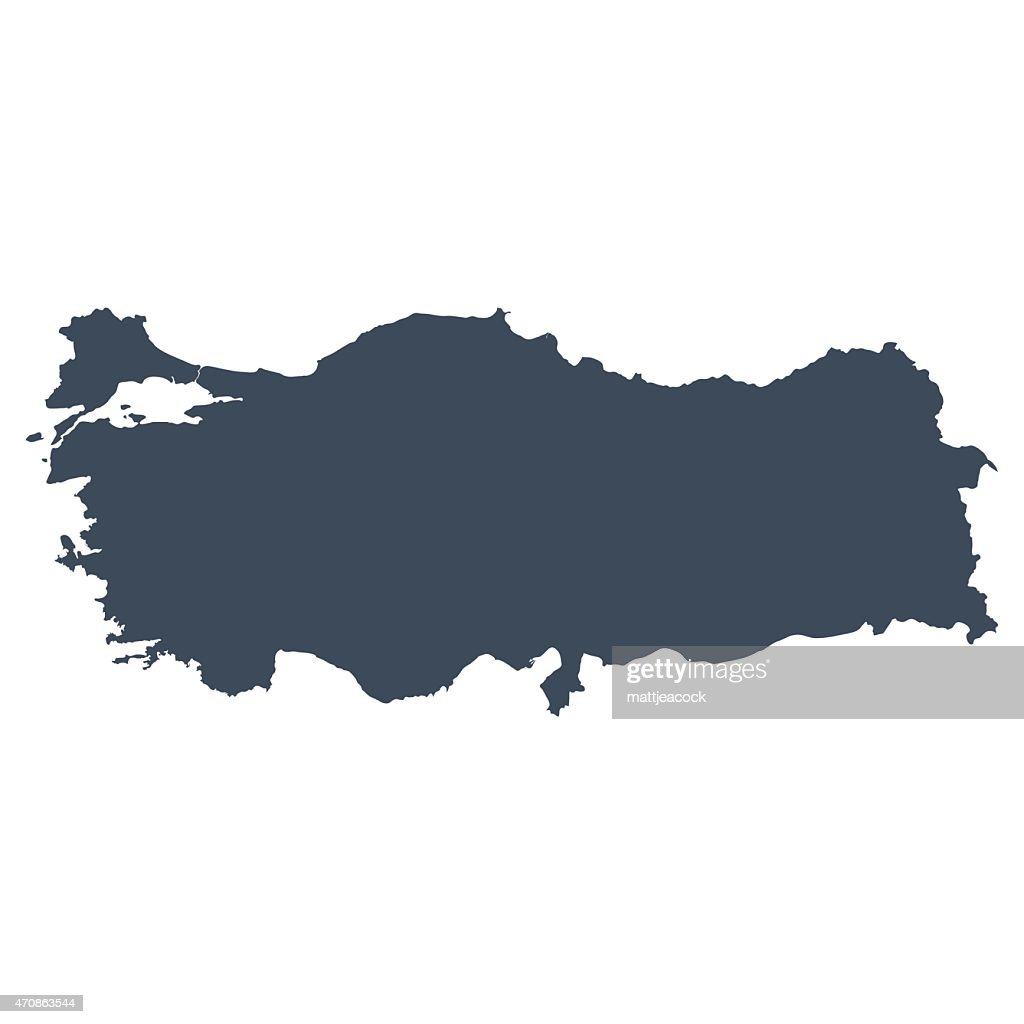 Turkey Flag Map On Grey White Background Vector Art Getty Images