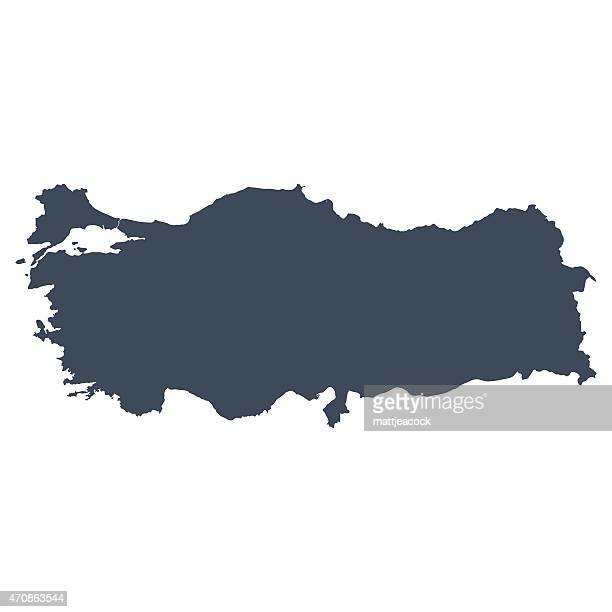 turkey country map - turkey middle east stock illustrations