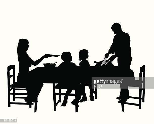 Turkey Dinner Vector Silhouette