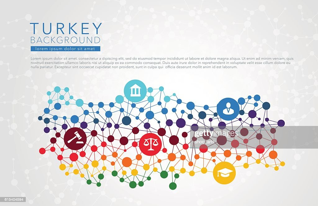 Turkey dotted vector background