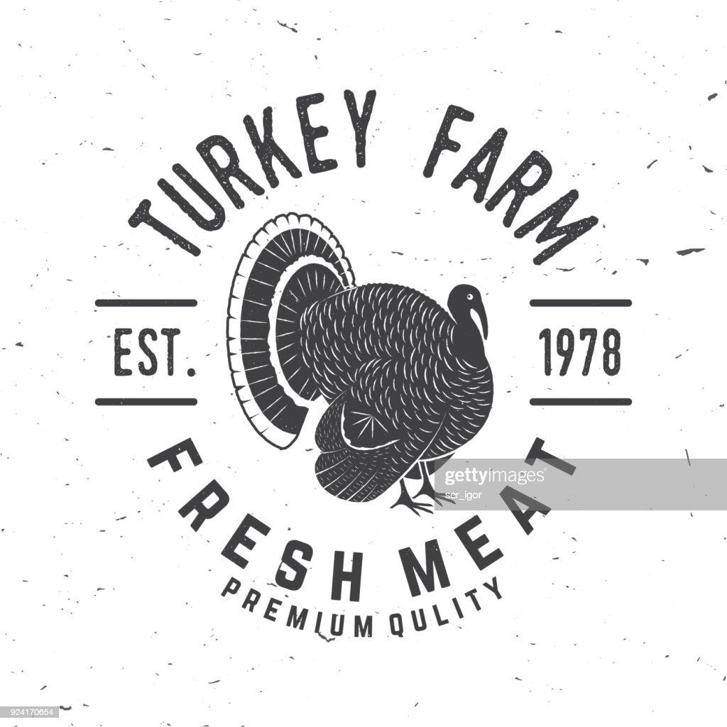 Turkey Farm Badge or Label