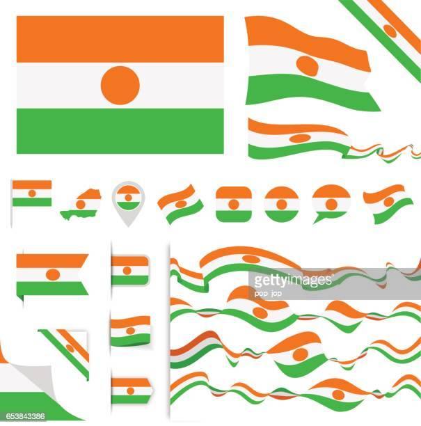 ilustrações, clipart, desenhos animados e ícones de n0605 - turquia - conjunto de sinalizador - níger