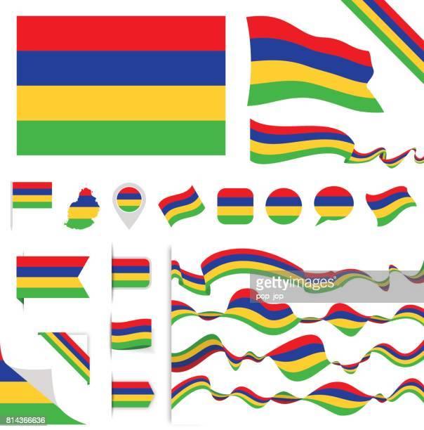 ilustrações, clipart, desenhos animados e ícones de n0605 - turquia - conjunto de sinalizador - ilhas maurício