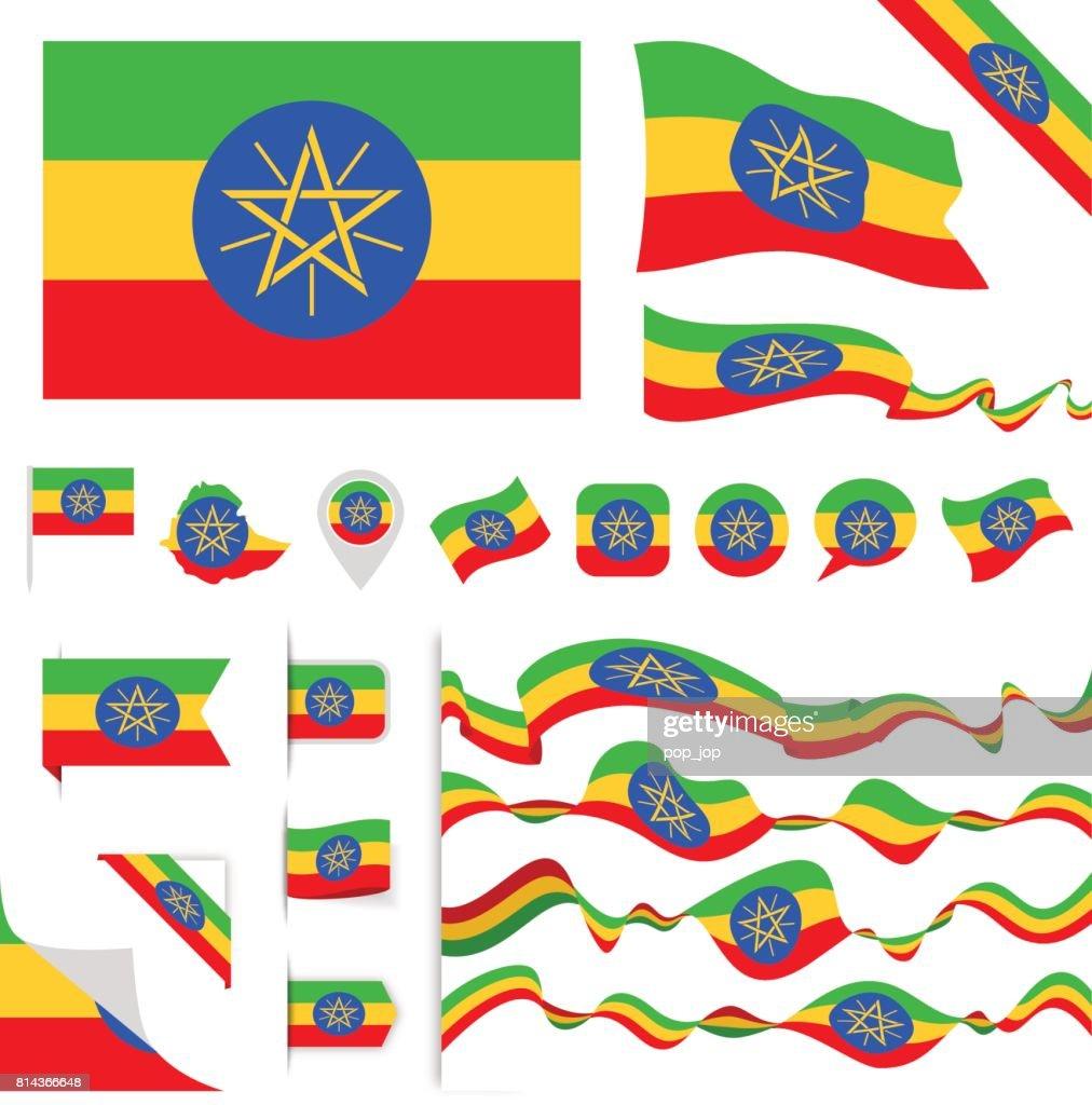 N0605 - Turkey - Flag Set : stock illustration