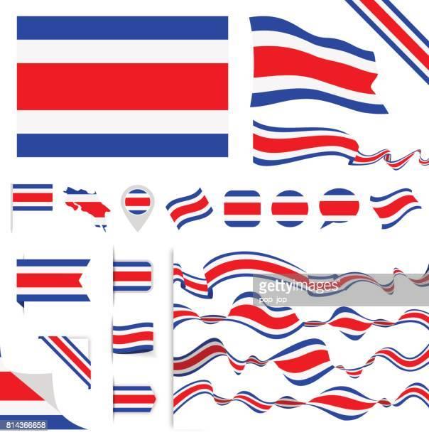 n0605 - turkey - flag set - costa rica stock illustrations, clip art, cartoons, & icons