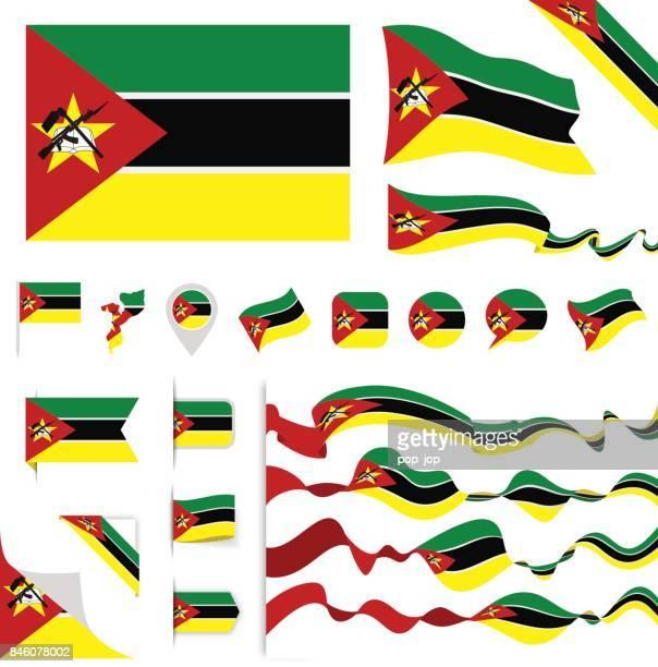 n0605 - turkey - flag set - mozambique stock illustrations, clip art, cartoons, & icons