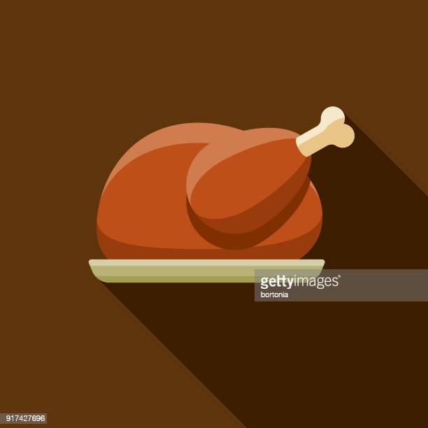 Turkey Flat Design Thanksgiving Icon