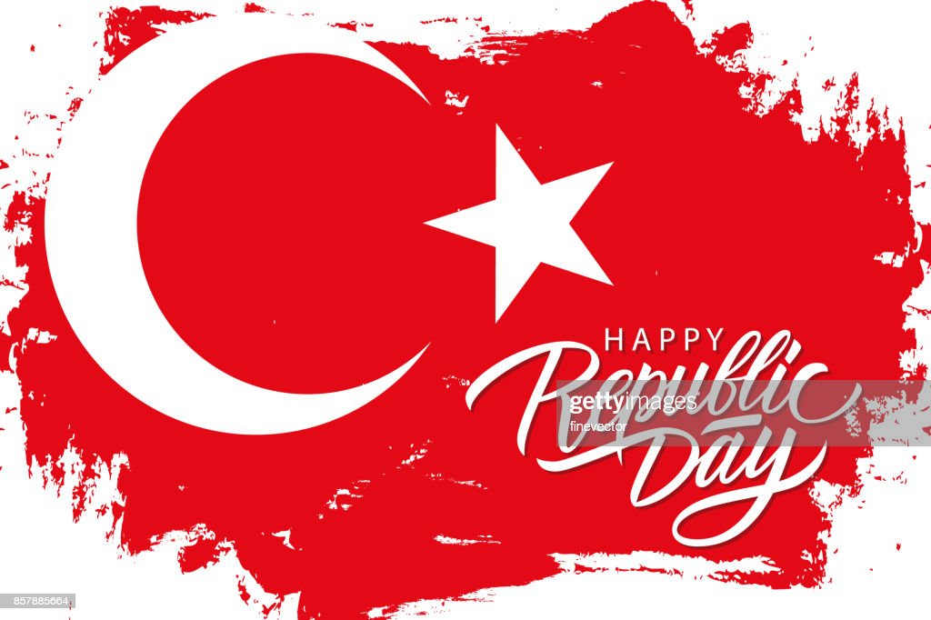 Turkey happy republic day october 29 greeting banner with turkish turkey happy republic day october 29 greeting banner with turkish national flag brush stroke background m4hsunfo