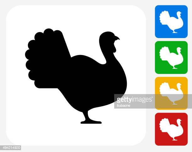 Turkey Icon Flat Graphic Design