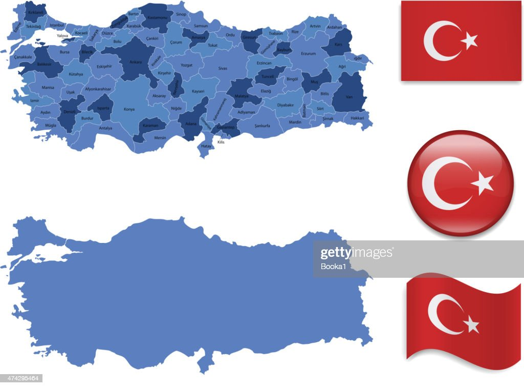 Turkey Map and Flag Collection