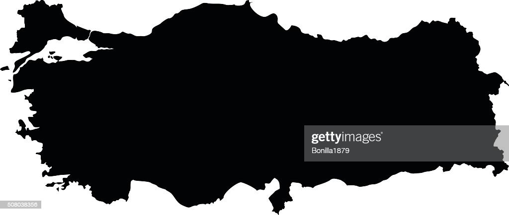 Turkey map on white background vector