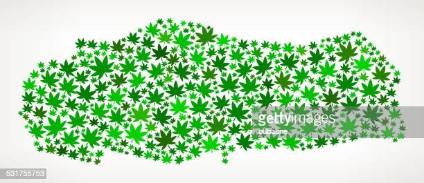 Turkey Map royalty free vector Marijuana Leaves Weed graphic