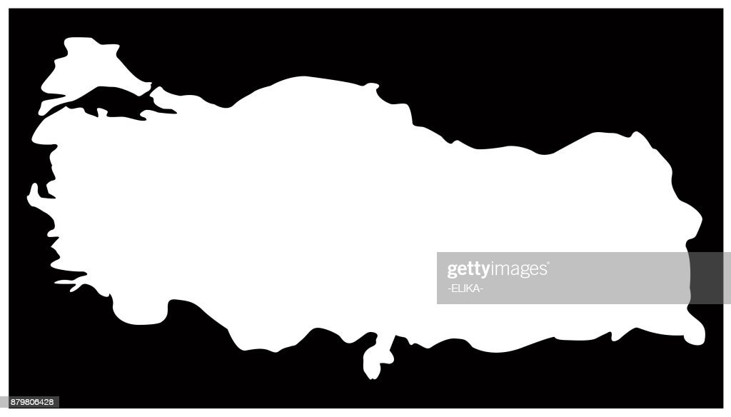 Turkey Map Vector Art Getty Images