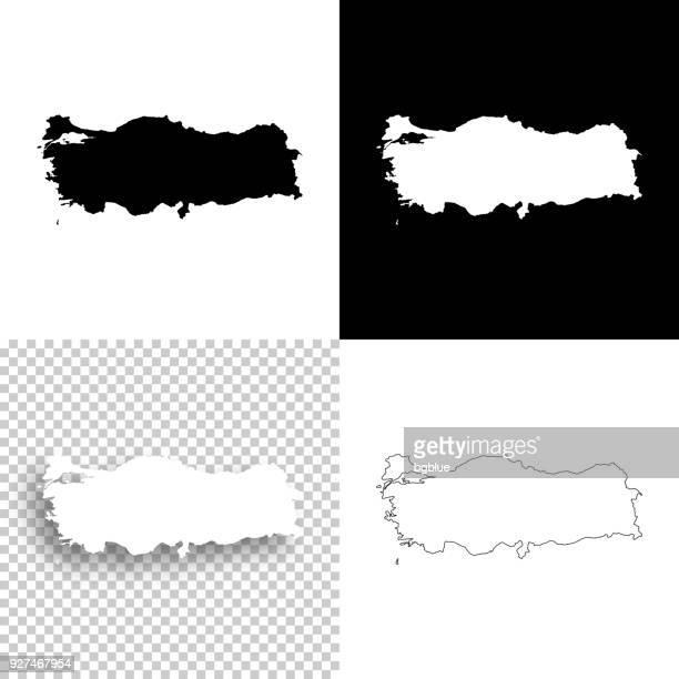türkei karten für design - leere, weiße und schwarze hintergründe - türkei stock-grafiken, -clipart, -cartoons und -symbole