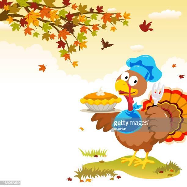 Turkey & Pumpkins Pie