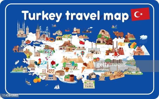 トルコの旅行マップ - トラブゾン点のイラスト素材/クリップアート素材/マンガ素材/アイコン素材