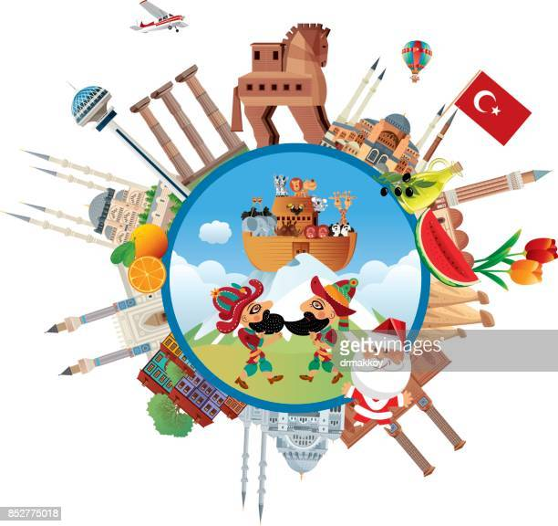 turkey travel - ankara turkey stock illustrations