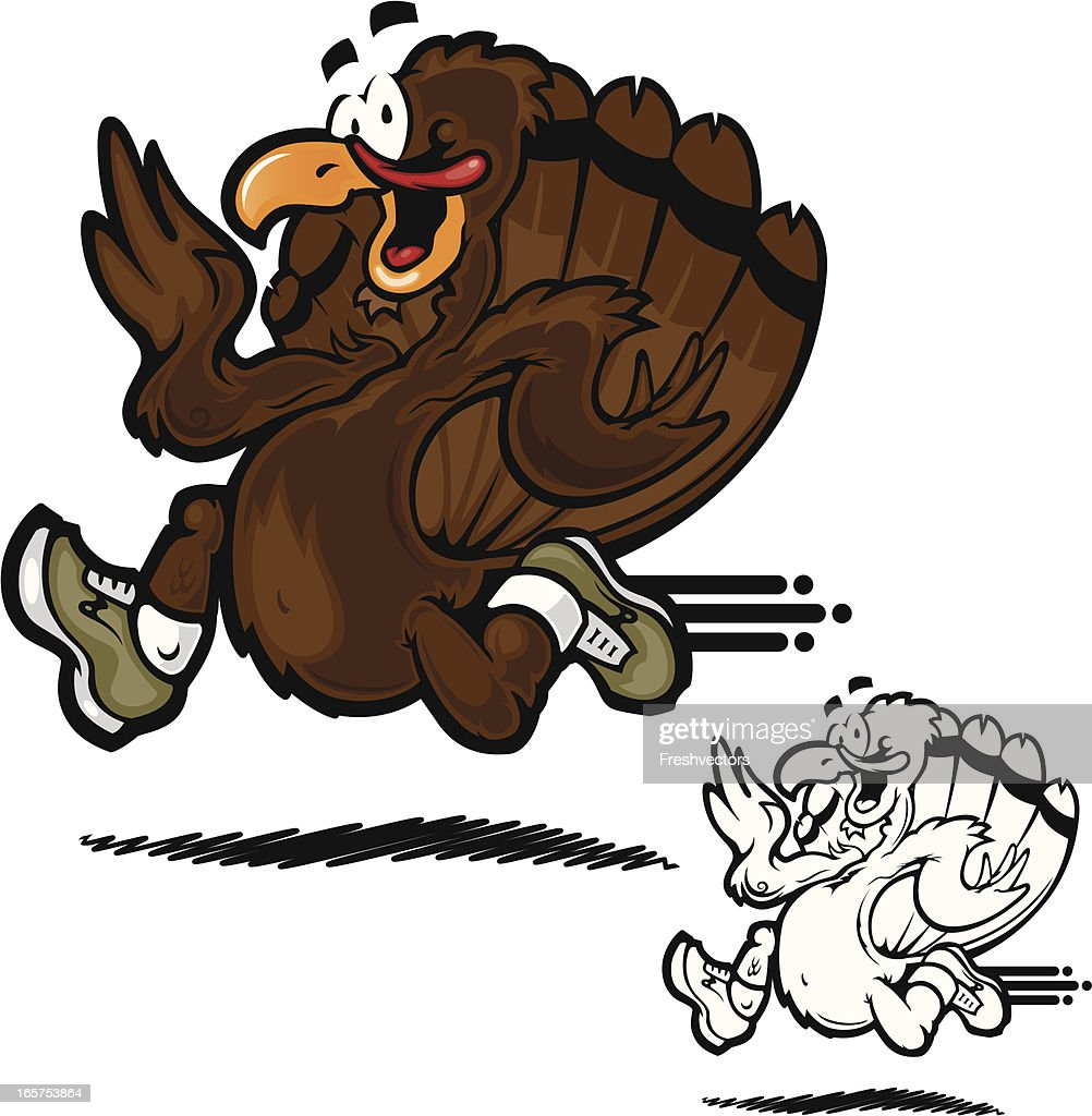 Turkey Trot Vector Illustration : stock illustration