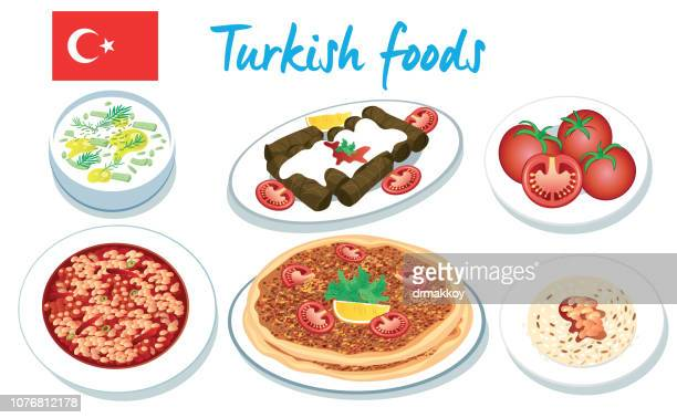 turkish foods - baked beans stock illustrations, clip art, cartoons, & icons