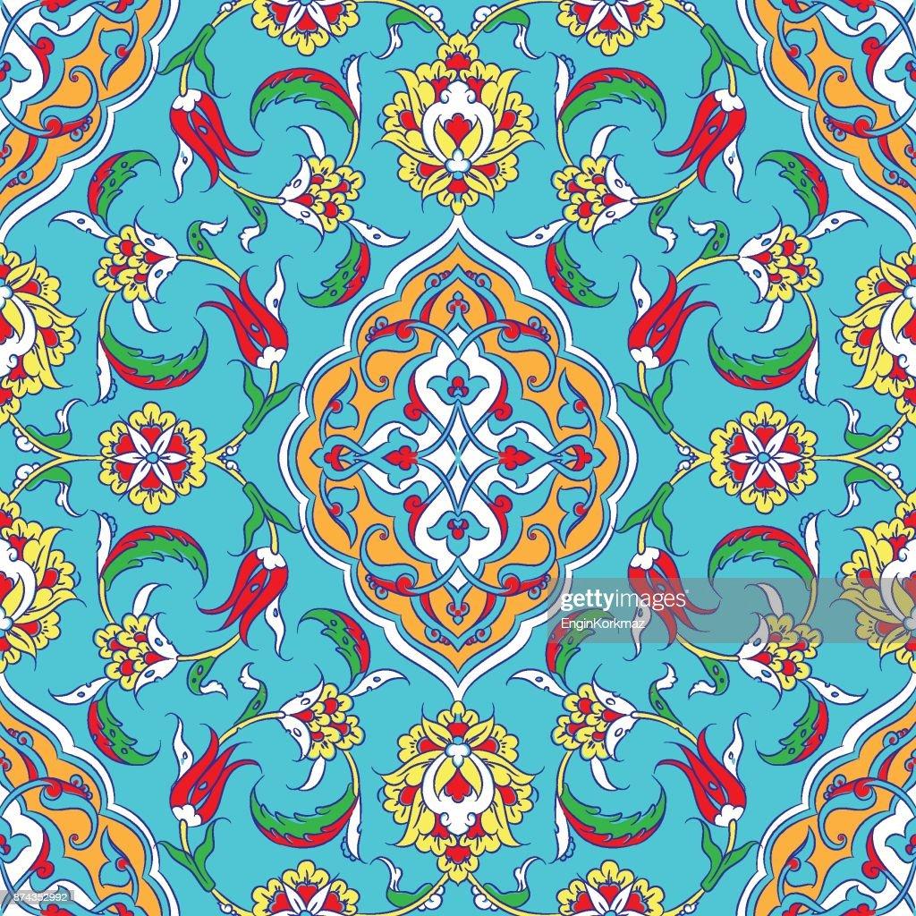 Turkische Iznikfliesen Design Vektorgrafik Getty Images