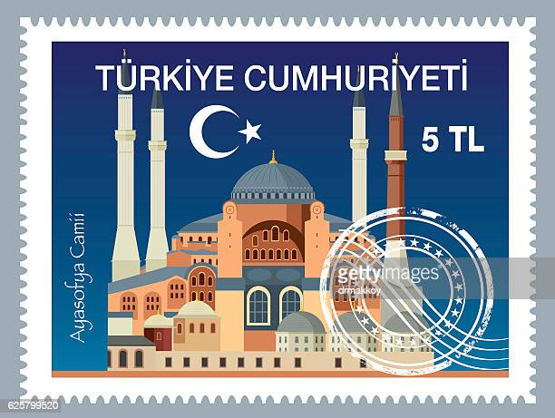 turkish postage - architectural dome stock illustrations, clip art, cartoons, & icons
