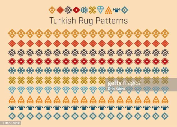 türkische teppich muster - türkei stock-grafiken, -clipart, -cartoons und -symbole