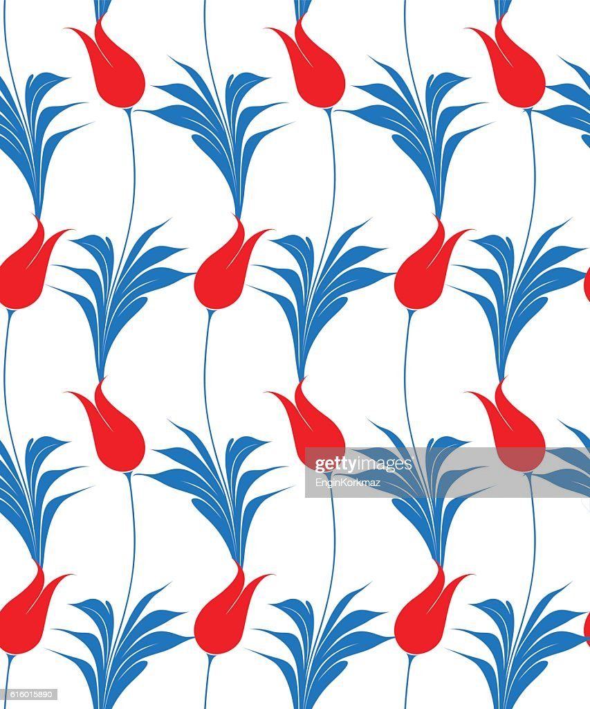 Turkish tulip seamles pattern