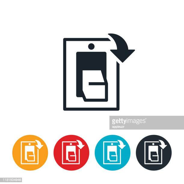 turn off lights icon - turning on or off stock illustrations