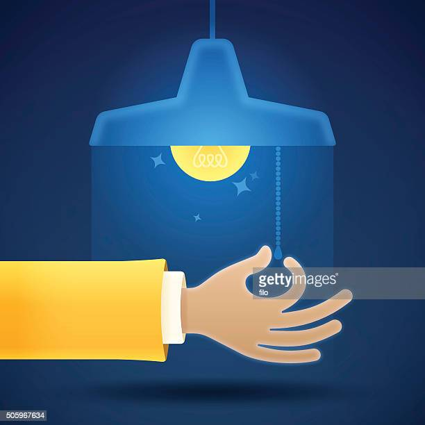 turning on or off a light - illuminated stock illustrations