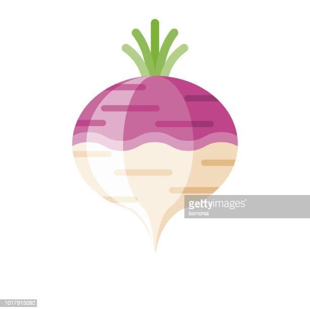 turnip flat design vegetable icon - turnip stock illustrations
