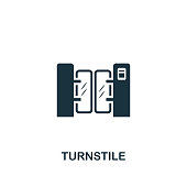 Turnstile icon. Premium style design from public transport icon collection. UI and UX. Pixel perfect Turnstile icon for web design, apps, software, print usage.