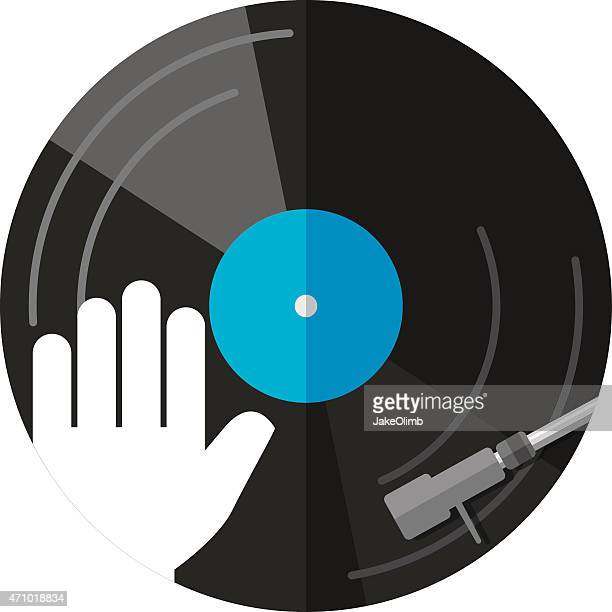 turntable icon - soundtrack stock illustrations, clip art, cartoons, & icons