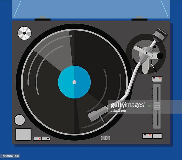 turntable - gramophone stock illustrations, clip art, cartoons, & icons