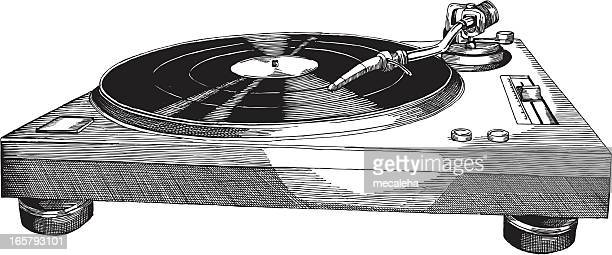 turntables - deck stock illustrations