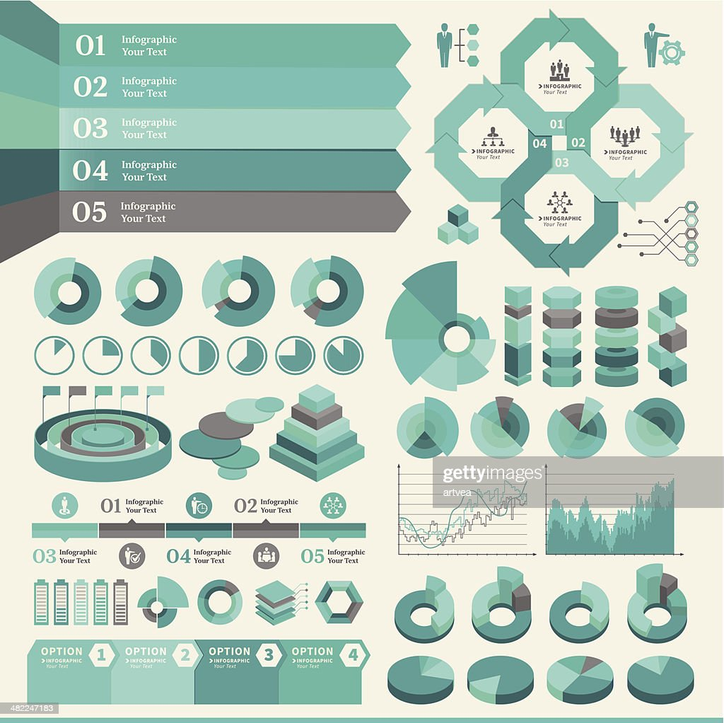 Turquoise Business Infographic : stock illustration