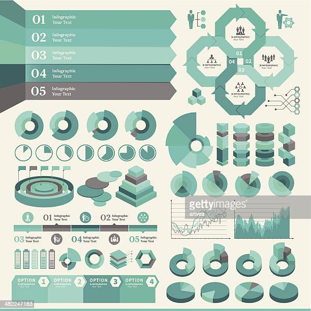 turquoise business infographic - labeling stock illustrations, clip art, cartoons, & icons