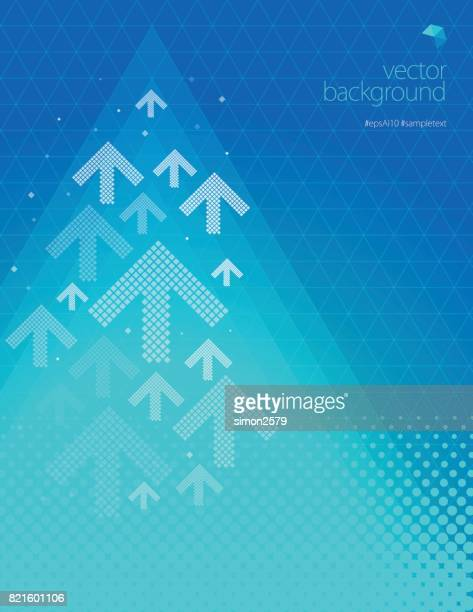 Turquoise green color background with fading white direction arrow pattern