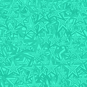Turquoise seamless star pattern background
