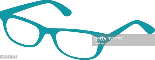 turquoise silhouette  spectacles - ophthalmology stock illustrations, clip art, cartoons, & icons