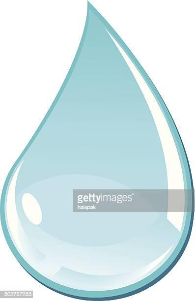 turquoise water drop - illustration - teardrop stock illustrations