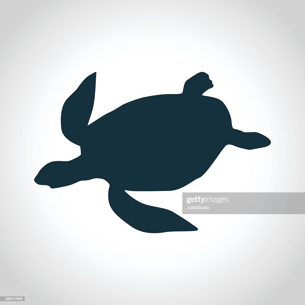 Turtle black silhouette