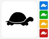 Turtle Icon Flat Graphic Design